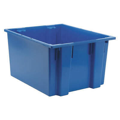QUANTUM STORAGE SYSTEMS Nest and Stack Container,23-1/2 in,Blue, SNT230BL, Blue