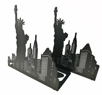 Black metal Art World Landmark fermalibri decorativo libro supporti per (f9t)