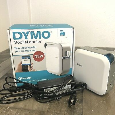 DYMO Mobile Labeler Bluetooth Smart print Rechargeable battery Works W/Dymo app