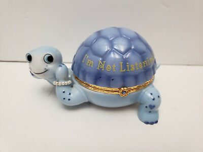 I'm Not Listening Shell Full of Attitude Turtle Music Box Collection 2009