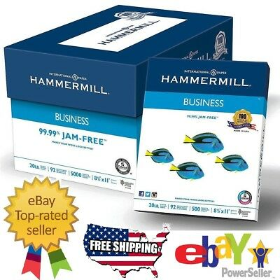 """Hammermill Business Printer Paper Copy Paper White 8 1/2"""" x 11"""" 5000 Sheets Case"""