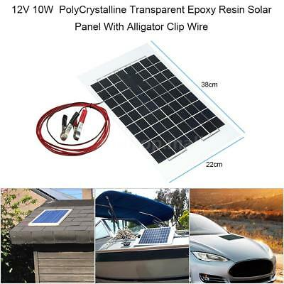 Solar Powered Panel Battery Charger 12V Maintainer Controller Car RV Marine W6B1