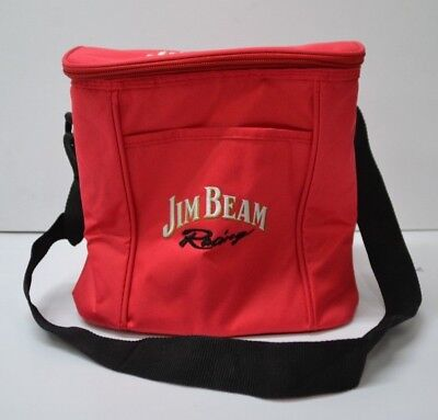 Jim Beam Bourbon Racing Red Waterproof Cooler Bag Lunch Box With Handle