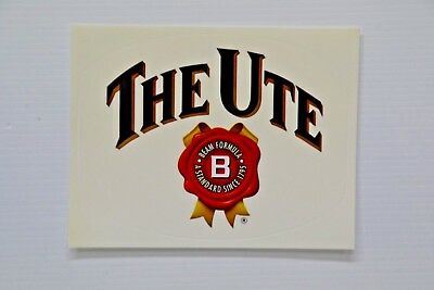 Jim Beam Bourbon Standard Since 1795 Logo The Ute Brand New Clear Decal Sticker