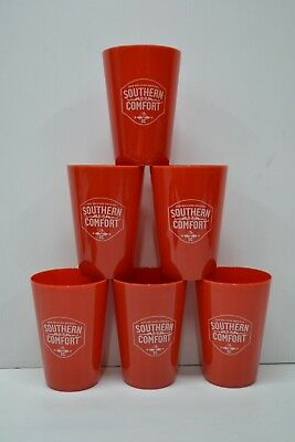 Southern Comfort Est. 1874 Brand New Set Of 6 Plastic Drinking Tumblers Glasses