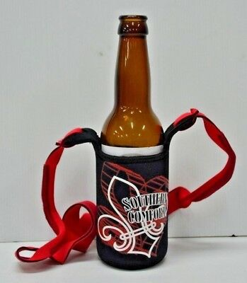 Southern Comfort Brand New Hands Free Printed Stubby Can Holder With Neck Strap