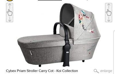 Cybex Priam Carry Cot Koi Mixed Gray New In Box Free Shipping
