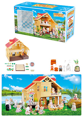 Happy Family Mini Furniture Doll House Accessories Miniature Chair Table Cabinet