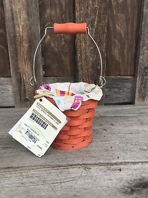 Longaberger Beach Pail In Coral Homestead Only Item