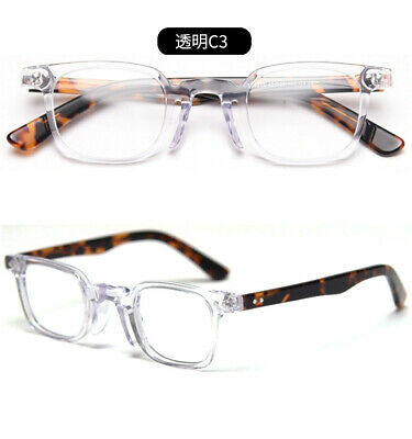 Hand made Small Square Glasses frames Japan Eyeglasses Solid wood temple Deluxe