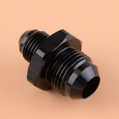 AN8 to AN6 Straight Male Flare Reducer Fitting Adapter Black