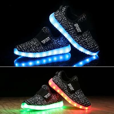 USA Unisex Light Up LED Shoes For Baby Toddler And Youth Kids Athletics Sneakers