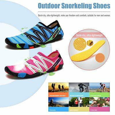 New Athletic Water Shoes Aqua Summer Socks Beach Breathable Quick Drying QC