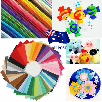 40pcs Acrylic Blend Felt Non-woven Fabric Mix Color DIY Craft Quilting 30*20cm N
