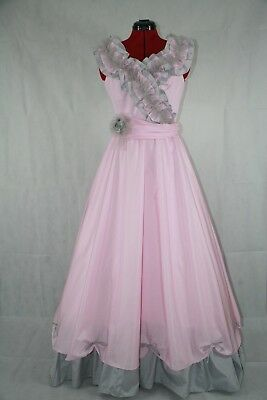 Pink and Gray Small Ladies Living History/Costume Ball Dress