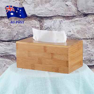 Large Home Room Car Hotel Tissue Box Wooden Box Paper Napkin Holder Case NW