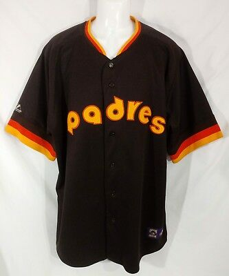 94c5a2e7 VTG San Diego Padres Jersey Majestic/Cooperstown Collection MLB Baseball Sz  2X