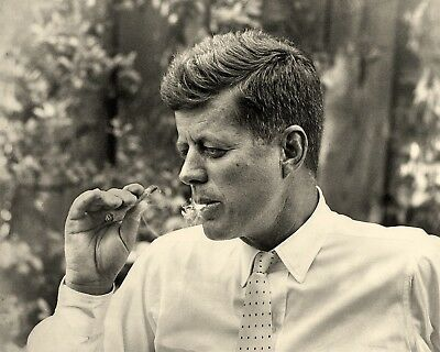 Assassinated Democratic 35th President John F Kennedy Smoking Rarely Seen Photo