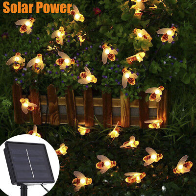 Solar Bee String Lights 20/30 Led Outdoor Solar Power LEDs Strings Waterproof
