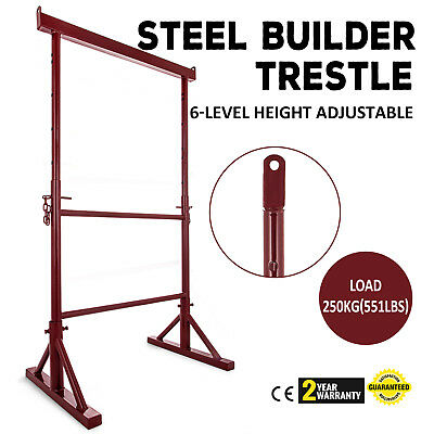 6 x Size No 3 Adjustable Steel Builders Trestle / Trestles Band Stands