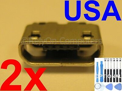 2x OEM Type Perfect Fit Micro USB Charging Port Power Sync For RCA Tablet. USA