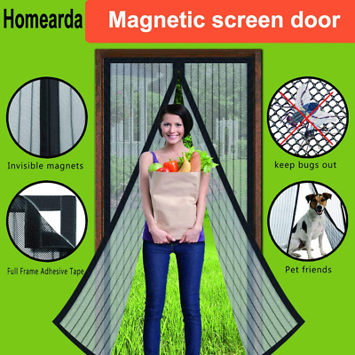 Homearda Magnetic Screen Door - Full Frame, Fits Up To 34x82 Inch