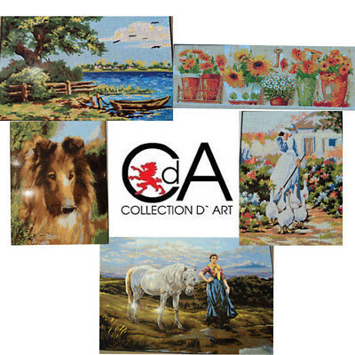 Needlepoint Canvas Printed Tapestry by COLLECTION D'ART - Your Choice!