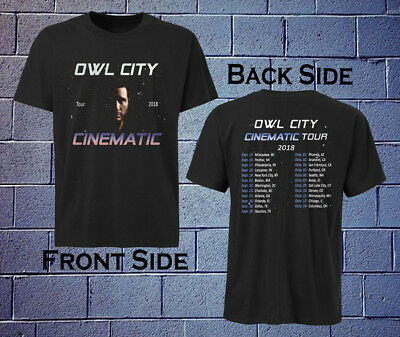 NEW OWL CITY Cinematic Tour 2018 T-shirt All Size ( 2 Side )