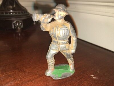 Vintage M-12 BUGLER SOLDIER Figure Barclay Manoil Eccles Lead Toy Dimestore, GUC