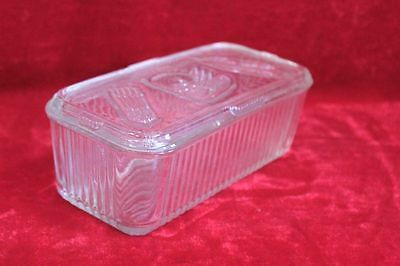 Old Vintage Antique Glass Spice Box Kitchenware Collectible PL-23