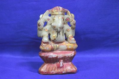 1900s Old Vintage Antique Rare Marble Ganesha Figure Collectibles PH8
