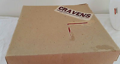 Vintage 50s CRAVEN'S Department Store Adelaide Mail Delivery Cardboard HAT BOX
