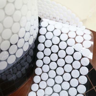 White Round Coins/Dots Sticky Self Adhesive Back Hook and Loop 350 Pairs 15mm AU
