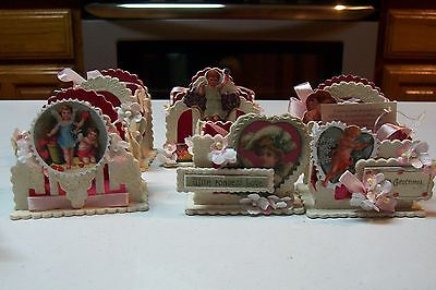 2009 Bethany Lowe by Casey Mack Valentine's Day Sweetheart Mini Buckets Set of 6