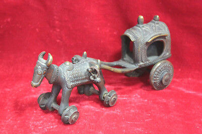 Antique Vintage Old Handcrafted Bullock Cart Home Decorative Collectible PW-89
