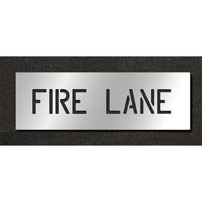 RAE Polyethylene Pavement Stencil,Fire Lane,6 in, STL-116-70631, Clear