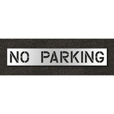 RAE Polyethylene Pavement Stencil,No Parking,12 in, STL-116-71232, Clear