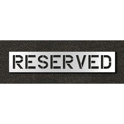 RAE Polyethylene Pavement Stencil,Reserved,12 in, STL-116-71233, Clear
