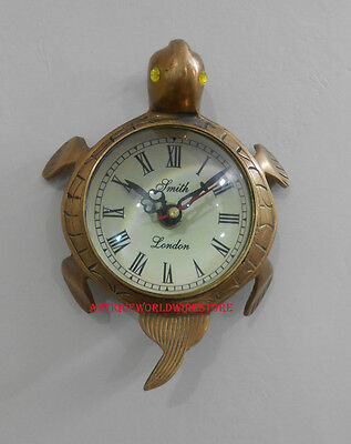 Antique Brass Smith London  Wall Clock In Tortoise