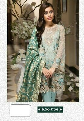 Designer Pakistani Heavy Work Wedding Salwar Kameez Indian Party Wear Dress Fp13