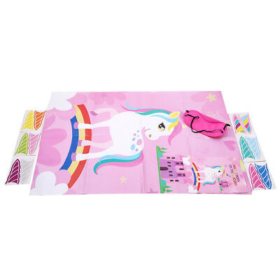 Kids Unicorn Pin Horn Game Birthday Games Favor Game Unicorn Poster NEW N7