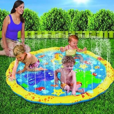 100cm Beach Mat Lawn Sprinkler Cushion Child Outdoor Play Water Game Toys Summer