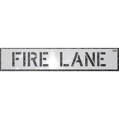 C.H. HANSON Polyethylene Stencil,Fire Lane,12 x 9 In., 70031, White