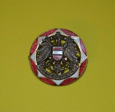 Vintage Rare - Cw- Vintage Osterreich Military Pin Back Pin