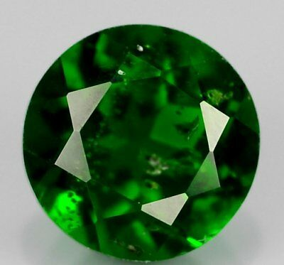 Natural Chrome Diopside  Ct 1.64 Forrest Green Color Si Round Cut Origin Russia