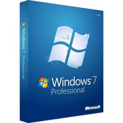 Windows 7 Professional 32 & 64 Bit - New - Full Version - Download