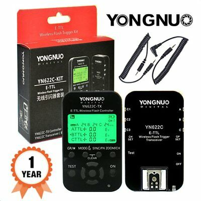 Yongnuo YN622C KIT YN622C + YN622C TX  Wireless TTL Flash Trigger for Canon UK