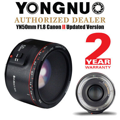 2018 Updated Yongnuo YN 50mm F 1.8 II Auto Focus Fixed Prime Lens for Canon UK