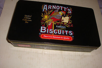 Arnott's Biscuit Tin- Limited Edition Collectors Tin- Xlnt Condition-Rectangular