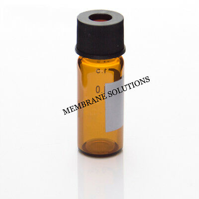 8mm 8-425 100PCS/PACK Amber Thread W/ Cap Gaskets For Laboratory Use AUTO Sample